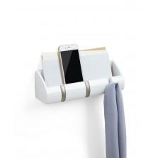 Ράφι Οργάνωσης με Κρεμάστρες Cubby Mini (Λευκό) - Umbra