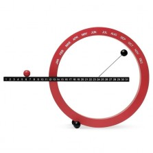 Ημερολόγιο Perpetual Μικρό (Κόκκινο / Μαύρο) - ΜοΜΑ