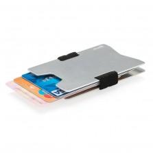 Μίνιμαλ Θήκη Καρτών με RFID-Blocking (Ασημί)