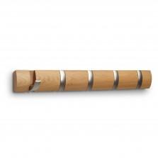 Κρεμάστρα Τοίχου FLIP με 5 Γάντζους (Φυσικό Ξύλο) - Umbra