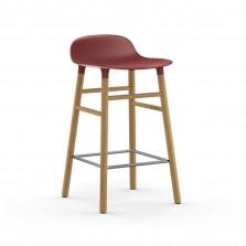 Σκαμπό Form 65 εκ. Ξύλο Βελανιδιάς (Κόκκινο) - Normann Copenhagen
