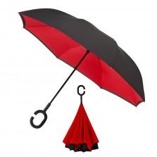 Ανάποδη Ομπρέλα (Μαύρο / Κόκκινο) - Impliva