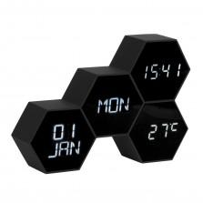 Επιτραπέζιο Ρολόι / Ξυπνητήρι Six In The Mix ( Μαύρο) – Karlsson