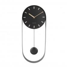 Ρολόι Τοίχου με Εκκρεμές Charm (Μαύρο) - Karlsson