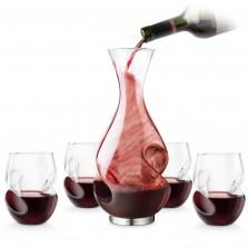 Σετ Καράφα & 4 Ποτήρια Κρασιού L'Grand Conundrum – Final Touch