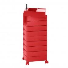 Τροχήλατη Συρταριέρα 360° Container με 8 Συρτάρια (Κόκκινο) - Magis