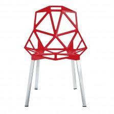 Μεταλλική Καρέκλα Chair One (Κόκκινο / Αλουμίνιο) - Magis
