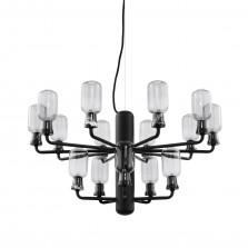 Πολυέλαιος Amp Small 15 Λάμπες LED (Μαύρο) - Normann Copenhagen