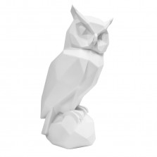 Διακοσμητικό Γλυπτό Origami Owl (Λευκό) - Present Time