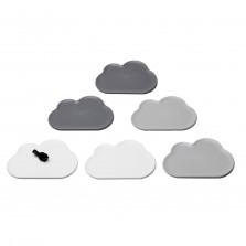 Σουβέρ Cloud Σετ των 6 (Γκρι Λευκό Σκούρο Γκρι) - Qualy