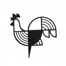 Μεταλλικό Διακοσμητικό Τοίχου Rooster (Μαύρο)  - A Future Perfect
