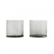 Χαμηλά Ποτήρια MERA 200 ml Σετ των 2 (Σκούρο Γυαλί) - Blomus
