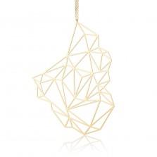 Κολιέ Μενταγιόν Stone L (Χρυσό) - Moorigin