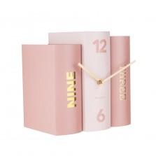 Επιτραπέζιο Ρολόι Book (Ροζ) - Karlsson