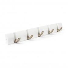 Κρεμάστρα Τοίχου FLIP με 5 Γάντζους (Λευκό) - Umbra
