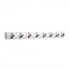 Κρεμάστρα Τοίχου FLIP με 8 Γάντζους (Λευκό) - Umbra