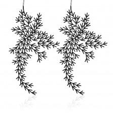 Σκουλαρίκια Waterweeds M (Μαύρο) - Moorigin