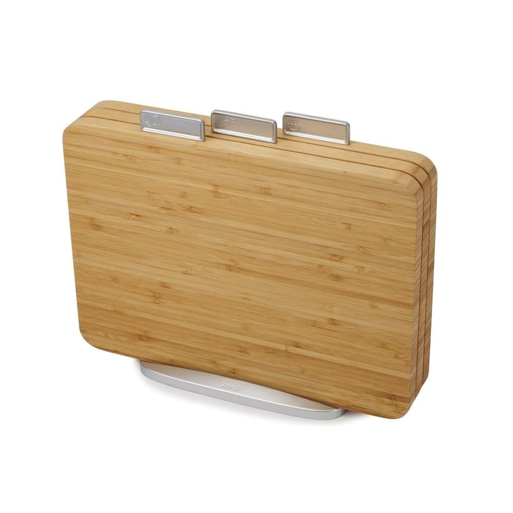 Επιφάνειες Κοπής Index™ Bamboo με Βάση (Σετ των 3) - Joseph Joseph