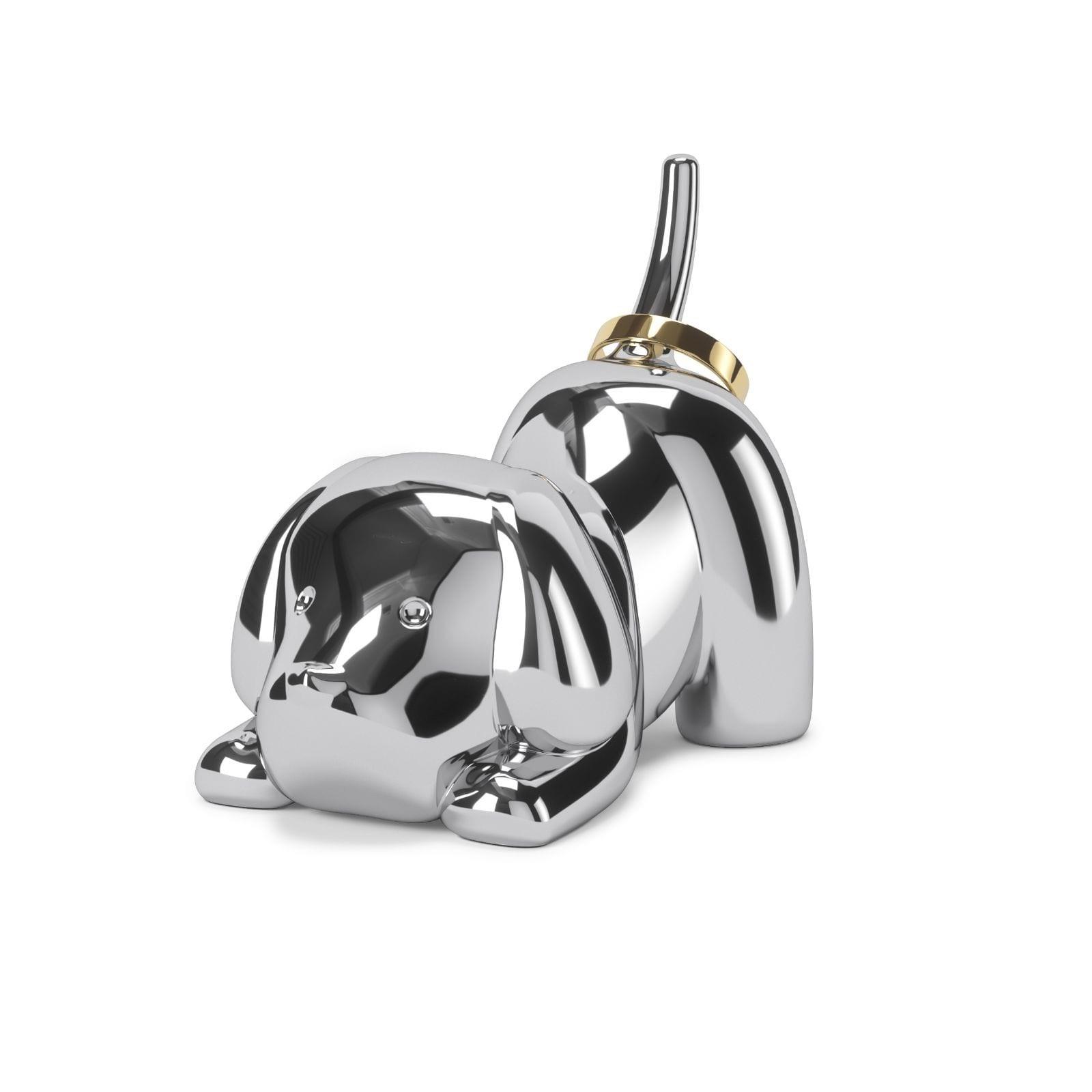 Θήκη για Δαχτυλίδια Zoola Puppy (Χρώμιο) - Umbra