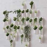 Floralink Κρεμαστά Δοχεία Αποθήκευσης / Γλαστράκια Σετ των 3 (Λευκό) - Umbra
