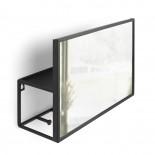 Καθρέφτης Τοίχου με Ράφι Cubiko (Μαύρο) - Umbra