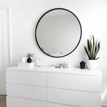 Στρόγγυλος Καθρέφτης Τοίχου HUB 46 εκ (Μαύρο) - Umbra