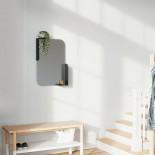 Καθρέφτης Τοίχου με Ράφια Alcove Μαύρο Umbra