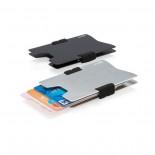 Μίνιμαλ Θήκη Καρτών με RFID-Blocking Ασημί