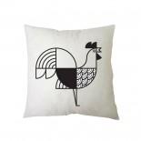 Μαξιλάρι Animalia Rooster 27 x 27 εκ. (Ασπρόμαυρο) - A Future Perfect