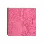 Σουβέρ από Τσιμέντο Athens Ροζ (σετ των 4) - A Future Perfect