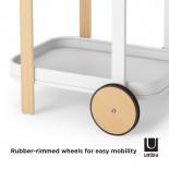 Τροχήλατο Βοηθητικό Τραπεζάκι Bellwood (Λευκό / Φυσικό) - Umbra