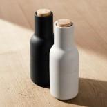 Σετ Κεραμικών Μύλων Αλατιού & Πιπεριού Bottle Grinder (Λευκό / Μαύρο / Ξύλο) - Menu