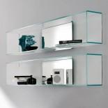 Γυάλινο Ράφι Τοίχου Brama 1 - Tonelli Design