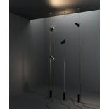 Κρεμαστό Φωτιστικό Cima Μαύρο / Ασημί Lodes