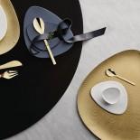 Πιατέλα με Ανάγλυφη Διακόσμηση Colombina Small Χρυσό Alessi