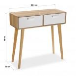 Τραπέζι Κονσόλα Φυσικό Ξύλο / Λευκό Versa