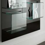 Γυάλινη Ραφιέρα Τοίχου / Βιτρίνα  Dazibao - Tonelli Design