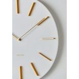 Ρολόι Τοίχου Discreet Λευκό Karlsson