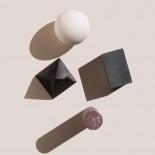 Πέτρινα Παγάκια Geometric Shapes Σετ των 4 Πολύχρωμο