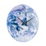 Ρολόι Τοίχου Planet Earth Γυαλί Karlsson