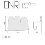 Κρεμάστρα Τοίχου ENRI01 Μαύρο Presse Citron