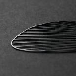 Σκουλαρίκια Fan M (Μαύρο) - Moorigin