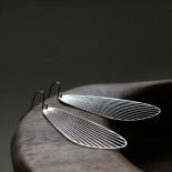 Σκουλαρίκια Fan M (Ασημί) - Moorigin