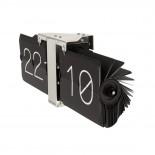 Ρολόι Τοίχου & Επιτραπέζιο Flip No Case Μαύρο Karlsson