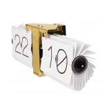 Ρολόι Τοίχου & Επιτραπέζιο Flip No Case Λευκό Karlsson