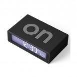 Ψηφιακό Επιτραπέζιο Ρολόι / Ξυπνητήρι Flip + Μαύρο LEXON
