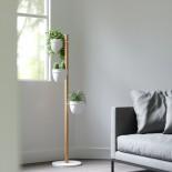 Σταντ με 3 Γλαστράκια Floristand Λευκό/ Φυσικό Ξύλο Umbra