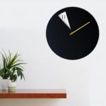 Ρολόι Τοίχου Freakish (Μαύρο / Κίτρινο) - Sabrina Fossi Design