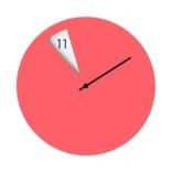 Ρολόι Τοίχου Freakish Ροζ Sabrina Fossi Design