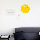 Ρολόι Τοίχου Freakish (Κίτρινο) - Sabrina Fossi Design